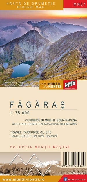 Romanian cartography Munții Noștri