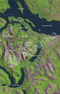 Carte Est du Parc National Nahuel Huapi