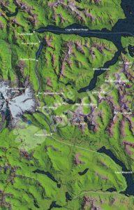 Carte Ouest du Parc National Nahuel Huapi